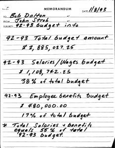 01-08-93_Bob-Dalton-92-93-Budget-Info