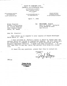 04-07-93 Meidinger reply to Keenan & Associates