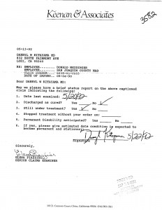 05-20-92 Meidinger Defense requesting permanent and Stationnary not answered
