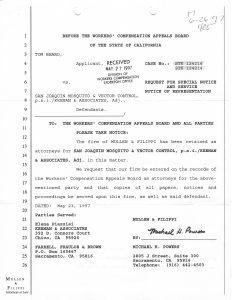 05-27-97 Tom Beard WCAB Notice of Representation P.S.I -Keenan & Associates_Page_1