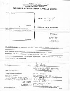 09-08-00 Tom Beard WCAB filing - Helphrey's firm taking over defense_Page_2