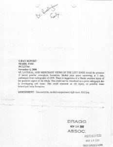 11-06-00 Tom Beard X-Ray Report