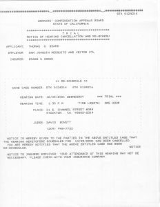 12-05-01 Tom Beard WCAB Bragg & Associate Trial Notice of Cancel_Page_1