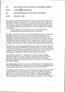 2001-01-16_Patricia-Fredericks-Memo-Discovery-request-of-Richard-Swartzell_Page_1