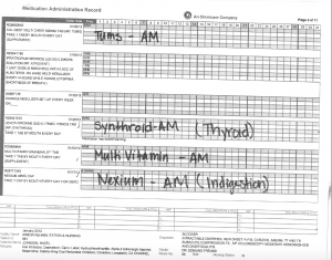 01-03-12 Shirley Johnson Arbor Rehab Dr Freund bed 55 Omnicare list of medications 1