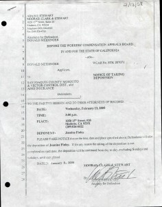 01-08-08_Notice of taking Deposition signed 2-13-08 Janine Esau