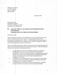 01-08-14_Letter to Stockwell Harris RE QME01