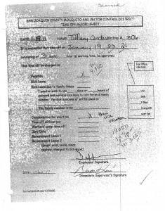 01-20-11 Retaliation for Work comp Claim