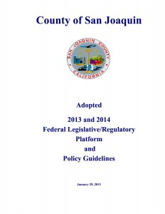 01-29-13_S J County Board of Supervisors 2013-14 Adopted Federal Legislative Platform01