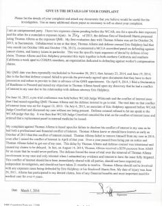 03-01-16 QME DWC Complaint Form Thomas Allems2