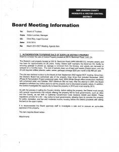 03-10-14 Board of Trustees Agenda #7 Authorization To Pursue Sale of Surplus District Property
