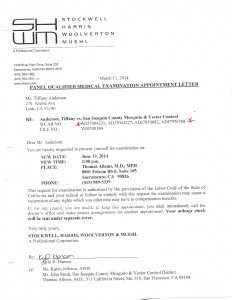 03-11-14 Stockwell Appointment letter for QME ALLEMS1