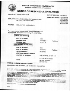 04-14-15_WCAB Notice Of Resceduled Hearing04