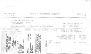 05-26-10 Mary Jean Parvin Paid Court For Ticket
