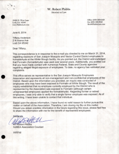 06-06-14_Bob Phibbs Reply to my concerns of employees exposure to Formaldehyde1
