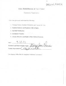 06-07-12 MaryJean Admited to Delta Rehab from LMH 5_11_12 5_22_12 MRSA Memeory loss. Delerium 16 copy