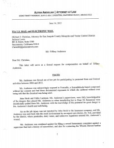 06-14-13_Settlement Demand Offer by Tiffany Anderson's Attorney_Page_1