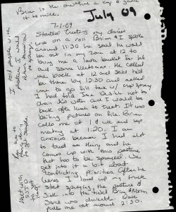 07-01-09_Zone Retaliation hand written Journal