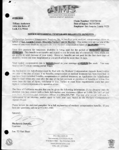07-08-08 AIMS notice of Temp Disability