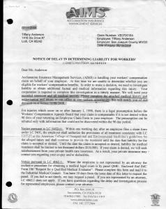 07-11-08 AIMS Notice of Delay