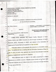 07-12-12_Stockwell-Filed-WCAB-Objection...eclaration-of-Readine01