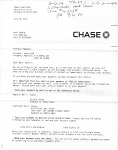 07-18-14 MARYJEAN PARVIN CHASE MORTGAGE TIFFANY ANDERSON OUT OF POCKET SALES CONSTRUCTION 2