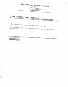 09-04-07 Visit Verification Dr Excuses for John Stroh