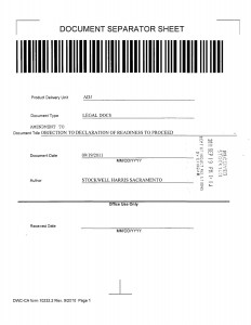 09-19-11_STOCKWELL AMENDMENT TO OBJECTION TO DECLARATION OF REA01