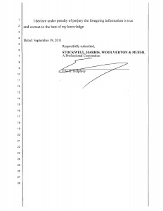 09-19-11_STOCKWELL AMENDMENT TO OBJECTION TO DECLARATION OF REA04