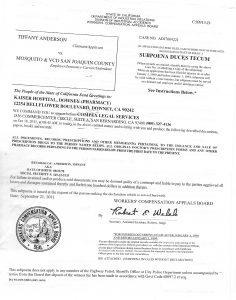 09-21-11 Subpoena Kaiser Downey Helphrey