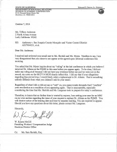 10-09-14_Response from McGill to Anderson on qme and not appearing_Page_1