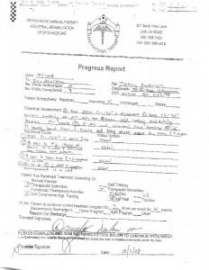 10-9-08 PT Progress Report
