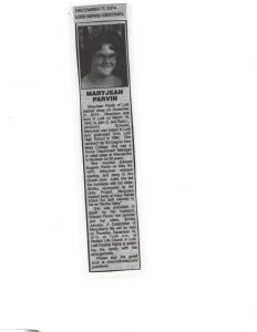 12-17-14 Lodi News obituary for MJP just before my mom died