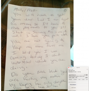 12-17-14 Tiffany to Grandma and Fred page 1