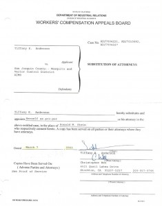 3-7-11 Stein Substitution of Attorney