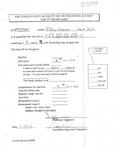 7-25-11 Sick Leave Form and Kaiser Documents for excusing my absence_Page_1