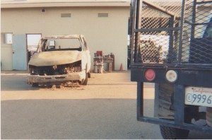 Burned Out Truck Picture #1