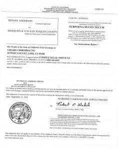 E. Subpoena Girard Chiropractic
