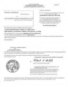 I. Subpoena Alpine Ortho