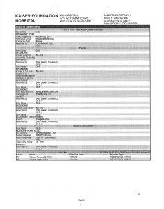 J. Subpoena Kaiser Manteca ER Visist 28 pages 3
