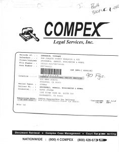 K. Subpoena (Employers DR) Dameron Occupational Health pages 1