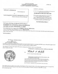 K. Subpoena (Employers DR) Dameron Occupational Health pages