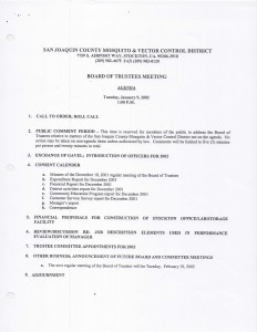 01-09-02 Board of Trustee Minutes Announcing New Board Position