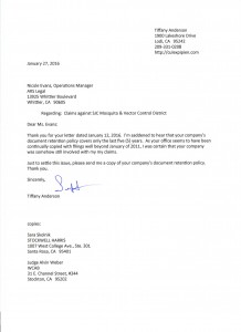 01-27-16_Letter to ARS Asking For Copy of Retention Policy1