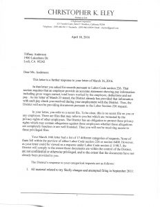 04-18-16 Reply from San Joaquin County Mosquitoe Legal Chris Eley Re Employee File Missing and Inaccuarte Content _Page_1