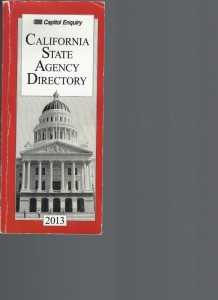 CALIFORNIA STATE AGENCY DIRECTORY 2013