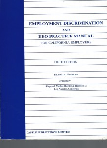 Employment Discrimination and EEO Practice Manual