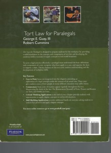 Tort Law For Paralegals 1